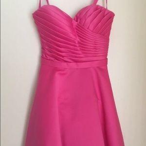 Short hot pink dress!